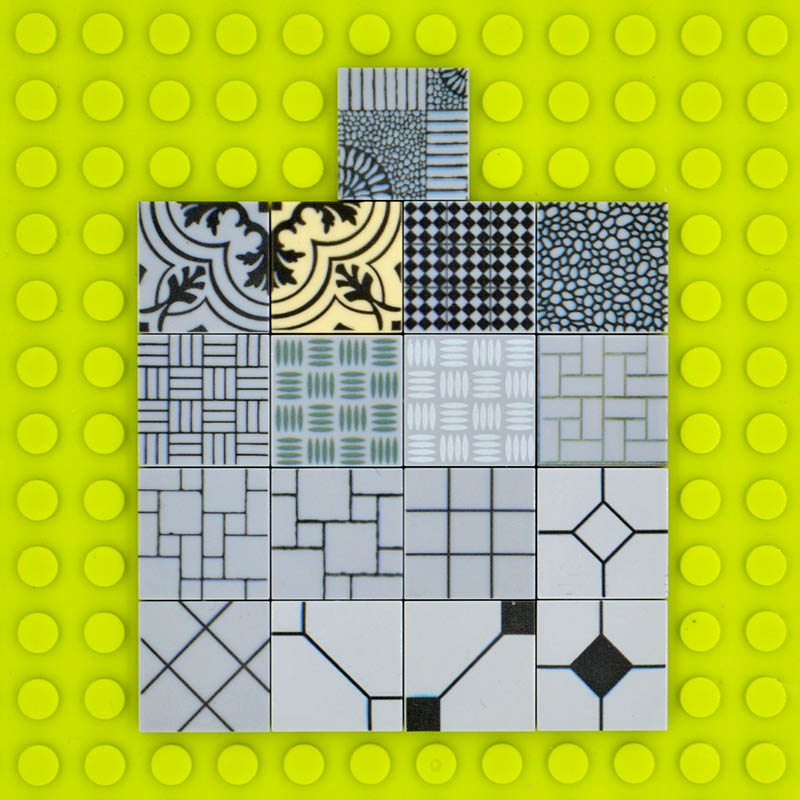 10PCs/Lot Custom Printed Brick Tiles Decorated Detailed Block Floor wall 2*2 MOC City Creator Construction Building Toys интегральная микросхема n a upd8279c 2 d8279c 2 d8279c upd8729 40 rohs 10pcs lot d8279c 2