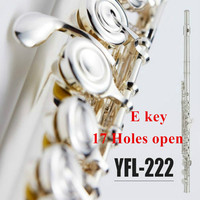 Japan Brand professional Flute 222 White copper musical instrument 17 Holes Open hole Flute and E Key C Tune Flute Free shipping