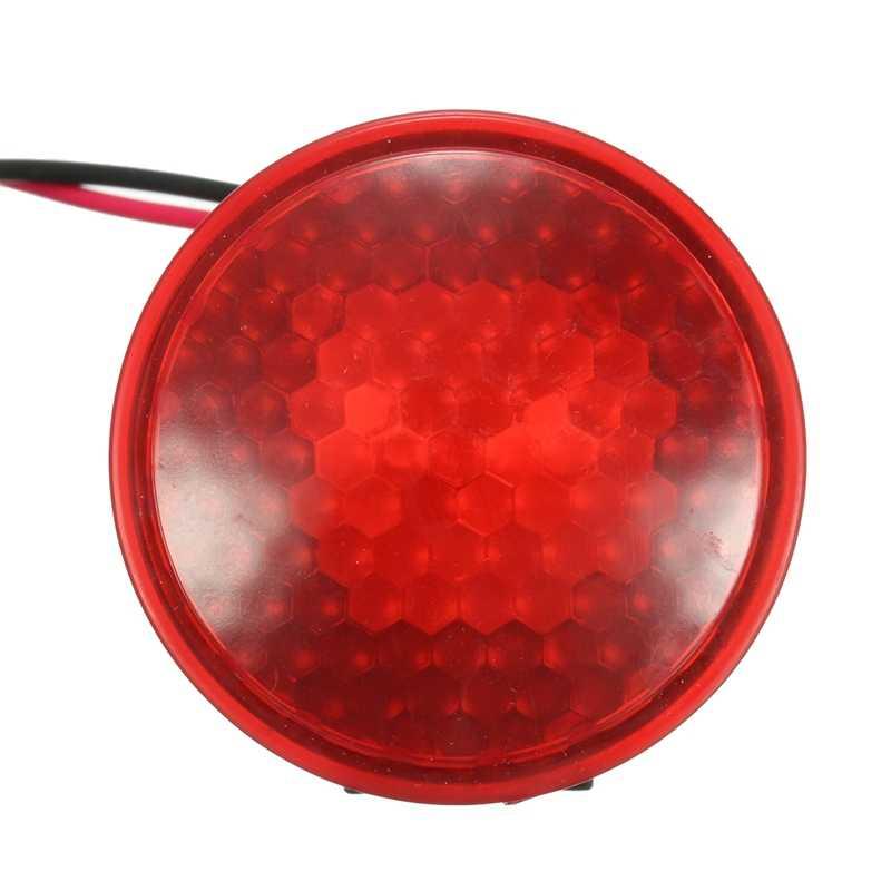12V 125db samochód motocykl ciężarówka hamulec syrena alarmowa Stop odwróć włącz klakson alarmowy czerwona dioda led