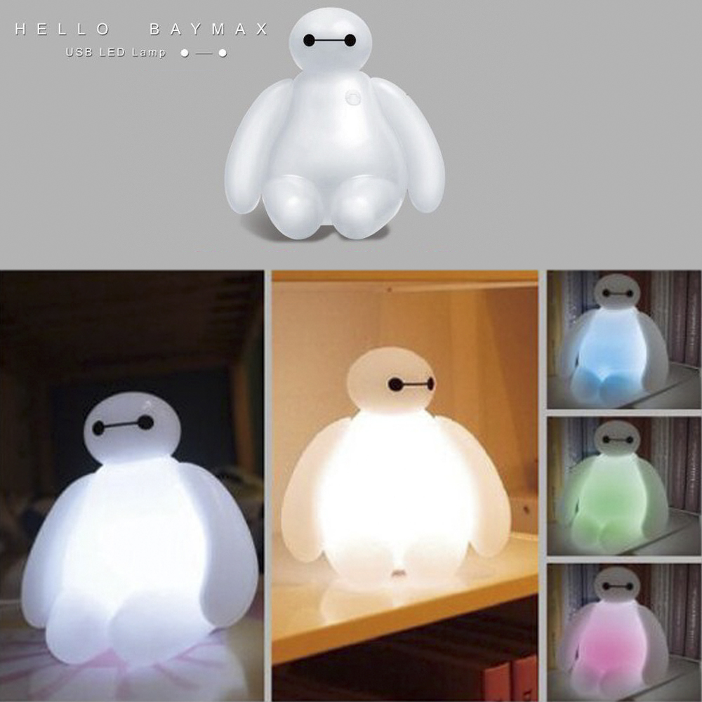 Big Hero 6 Cartoon BayMax LED Night Light White Cute Table Lamp ...