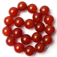 Free Shipping Natural AAA 20mm Smooth Red Color Agate Onyx Round Shape Loose Beads Strand 15