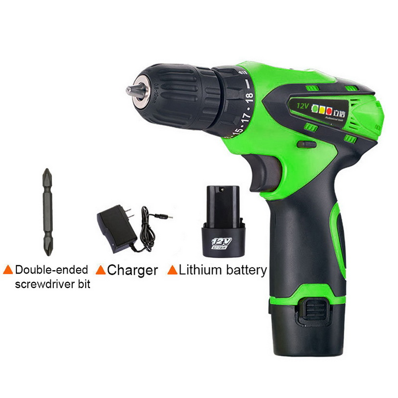 Urijk 1Pcs 12V Electric Screwdriver Drill Rechargeable Multifunction Wireless Electric Drill With Lithium Battery Drills Tool