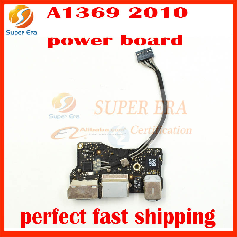 820-2861-A DC in I/O jack board power board Audio jack for Apple MacBook Air 13 A1369 Late 2010 MC503 MC504 EMC 2392 for macbook air usb i o audio board 820 3213 a 11 laptop a1465 power dc jack md223 md224 2012