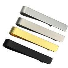 Acessórios de vestuário masculino moda cavalheiro colarinho fino aço inoxidável gravata clip preto prata metal gravata barra