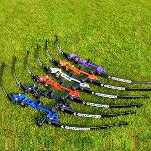 Image 3 - Profissional arco recurvo tiro com arco 40lbs poderosa caça arco terno para a prática de tiro ao ar livre setas acessórios