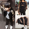 Family Matching Jackets Mother Daughter Clothes Dad Son Autumn Spring Baseball Fashion Leopard Jacket Coat Mother girl Clothes