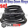 82-77-72-67-62-58-55-52-49 mm Step Down Rings SET