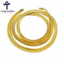 2018 Hot Men's Miami Cuban Link cadena Hip Hop oro joyería cadenas al por mayor grueso acero inoxidable largo grande grueso collar regalo(China)