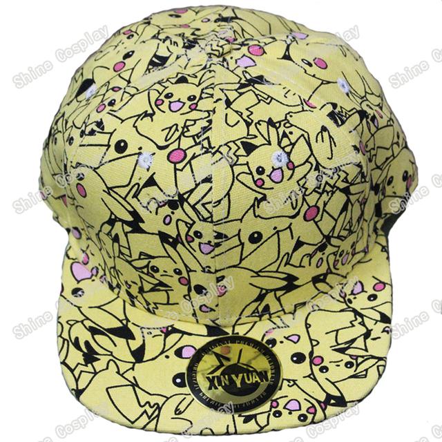 Anime Pokemon Pikachu Snapback Caps Adulto Hop Chapéus Boné De Beisebol bonito Chapéu Do Palhaço para Mulheres Dos Homens