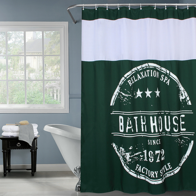 Fabric Polyester Bath House Waterproof Thicken Shower Curtains ...