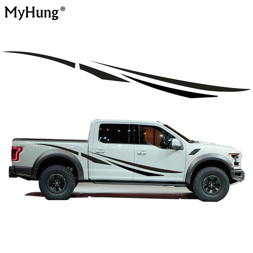 Creative DIY Car Decals Of Car Whole Body Sticker Car Styling For Ford F-150 F250 SUPERDUTY Ranger Car Stickers 2pcs per set diy japanese cartoon car stickers animation drift sticker printing carving protection film car funny camouflage graffiti decals