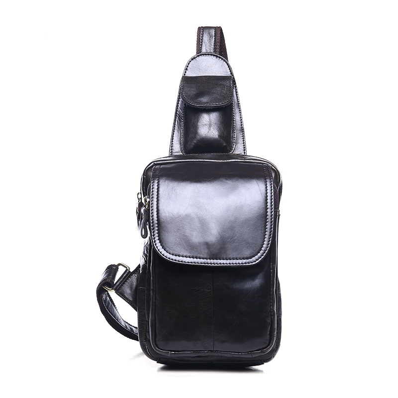 New Oil wax genuine leather men chest bag crazy horse cowhide men shoulder bag casual vintage crossbody Bags man chest pack simline 2017 vintage genuine crazy horse leather cowhide men men s messenger bag small shoulder crossbody bags handbags for man