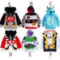 Crianças hoodies crianças dos desenhos animados Mickey Iron Man hoodies Outwear Meninos Top de Manga Longa Crianças Camisolas Casaco