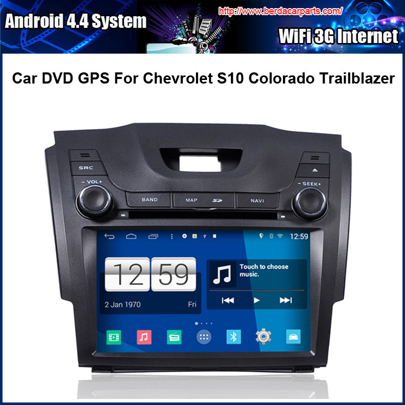 Android Car DVD player FOR Chevrolet S10 Colorado GPS Navigation Multi-touch Capacitive screen,1024*600 high resolution.