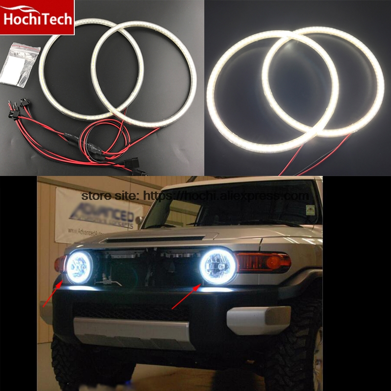 Hot style SMD angel eyes super bright white led halo light kit for Toyota FJ Cruiser 2007 08 2009 2010 2011 2012 2013 2014