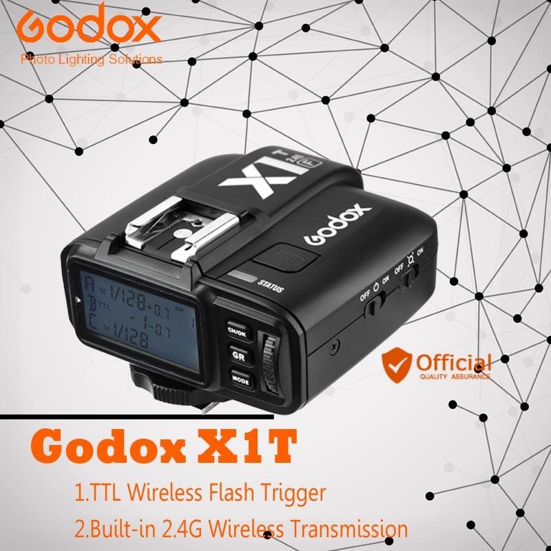 Godox X1T TTL HSS 1/8000 s 2.4G sans fil X contrôle du système Flash déclencheur émetteur pour Canon EOS Nikon Sony Fuji Olympus appareil photo