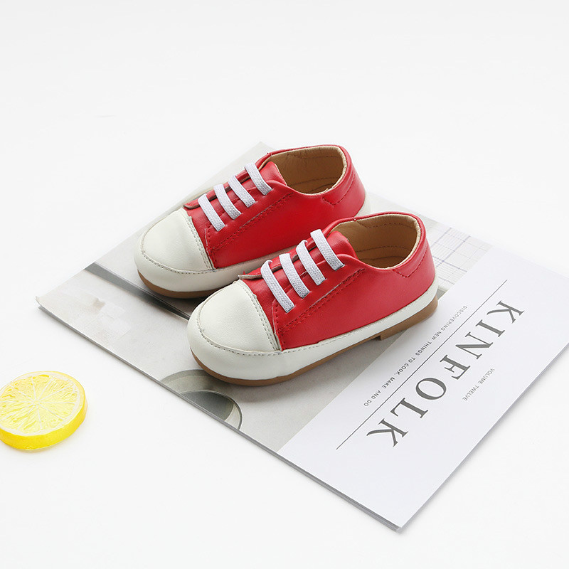 2018 New Arrival Baby Shoes for Autumn Boys Girls Leather Shoes Toddler Kids Shoes Moccasions Children Sneakers Low Size 21-30