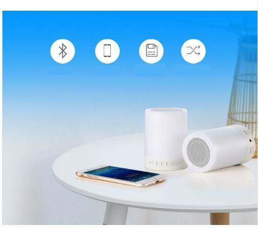 Image 3 - Kuliai night light with bluetooth speaker, portable wireless bluetooth speaker SHAVA touch control color LED night light-in Portable Speakers from Consumer Electronics