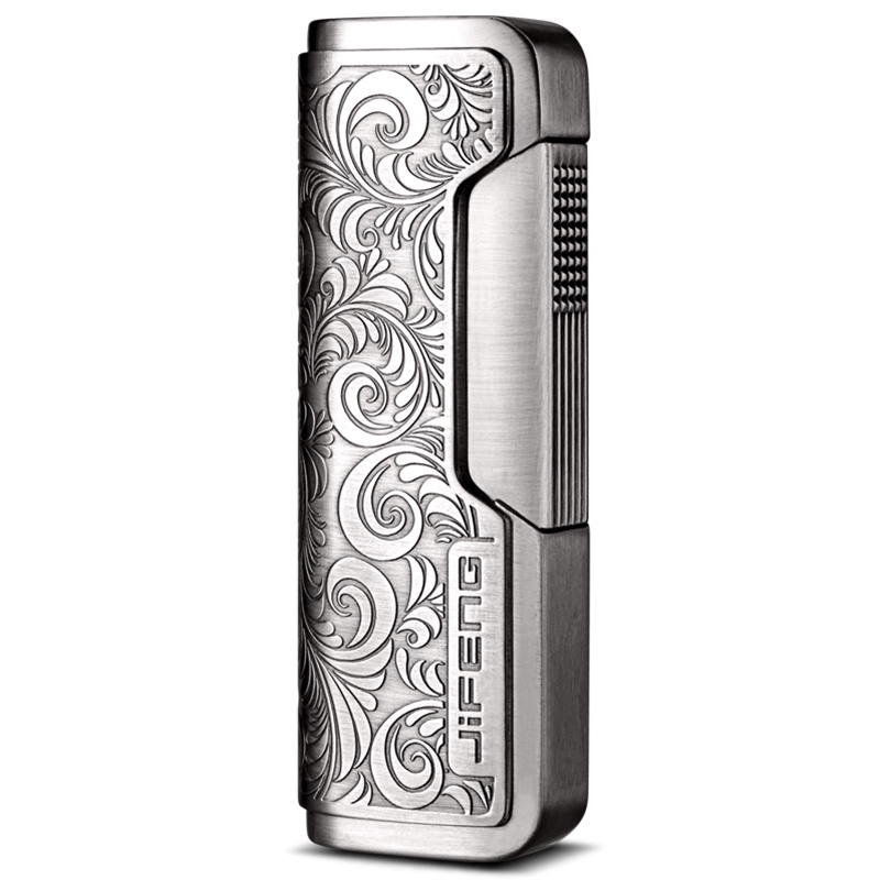 Windproof big firepower jet flame inflatable art engraving design cigar lighter CB 080