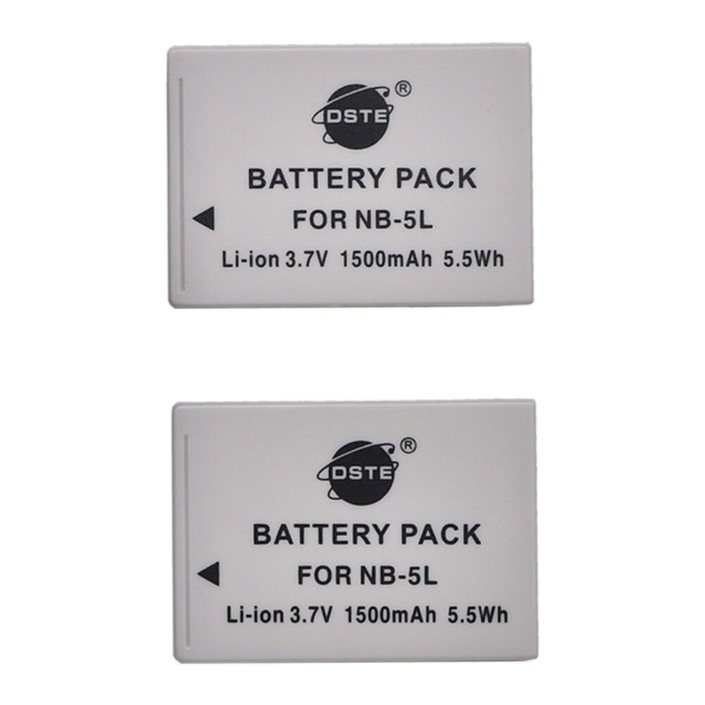 DSTE 2 pcs NB-5L NB5L 90 de Bateria para Canon IXUS 800 850 860 870 900 950 960 970 980 990 IS IXY 800 810 820 830 Camera