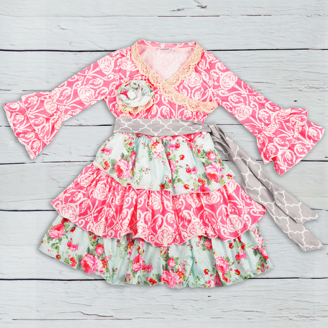 Fashion Wholesale Floral Girl Dress 2018 Baby Boutique Clothing Girl Cotton  Dress Kids Fashion Remake Frocks LYQ808-276 968ceaf41b