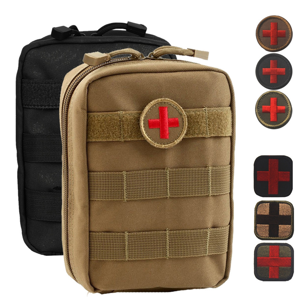 Outdoor Medical Accessory Bag MOLLE System Tactical EMT Medical First Aid Kit Bags Military Pack Waist Pouches