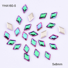 10pcs Flat back Crystal AB nail stones glass