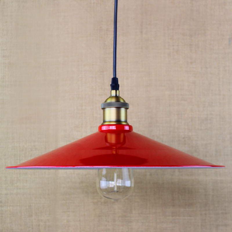 edison eenvoudige vintage metalen rode cover hanglamp voor keuken