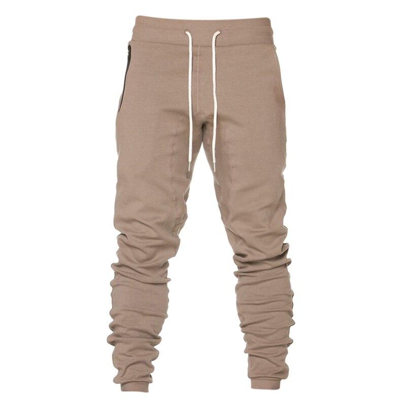 2018 Fashion Harem Pants Mens Casual Elastic Waist Zipper Pockets Sweatpants Bodybuilding Leisure Joggers Tracksuit Trousers 3XL