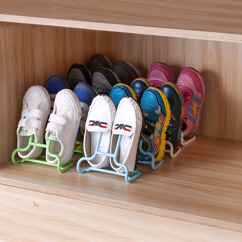 6 pçs/set Multi-Função Sapatos Dos Miúdos Das Crianças Penduradas Em Rack Stand Prateleira de Secagem Calçados Hanger Rack Organizador Space Saver Chão tipo