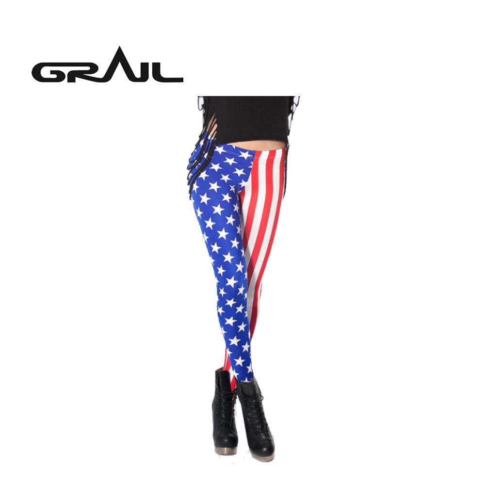 Women Print Pattern Yoga Pants 3D Digital Printing Fitness Tights Trousers S-3XL Plus Size National Flag USA UK Streetwear