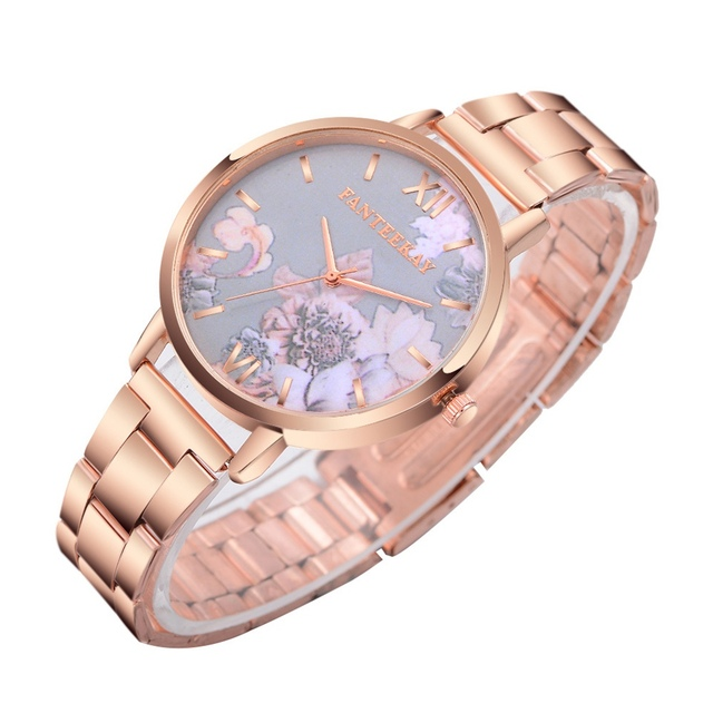 Splendid Top Brand Luxury Watches Women Ladies Fashion Daisies Flower Rose Gold Bracelet Wrist Watch Female Girl Quartz Clock
