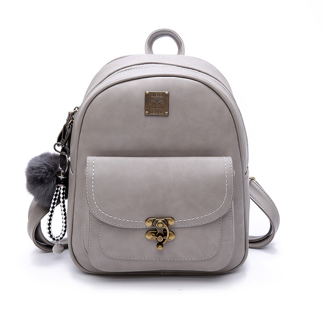 2017 Cool New Fashion Women Backpacks Women's PU Leather College ...