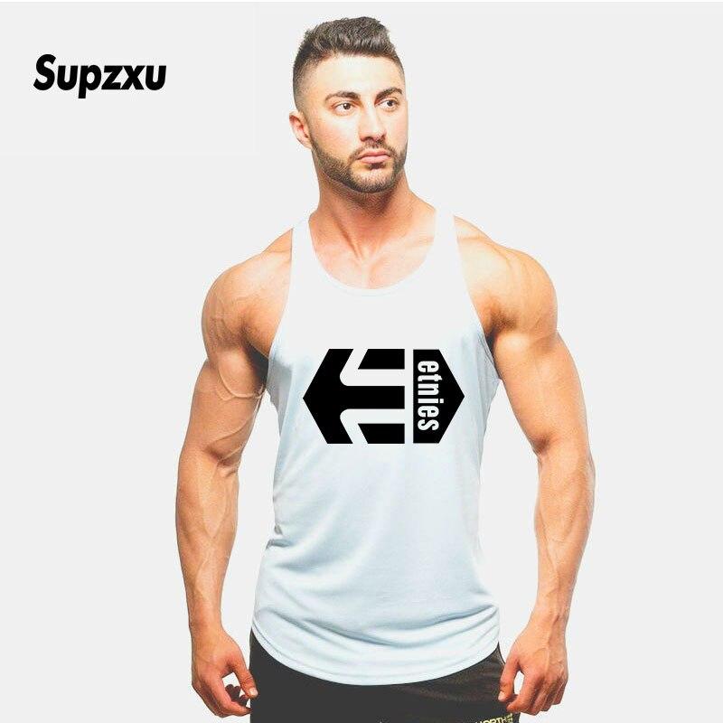 New UFC Cotton Gyms   Tank     Tops   Men Sleeveless Tanktops For Boys Bodybuilding Clothing Undershirt Fitness Stringer Golds Vest