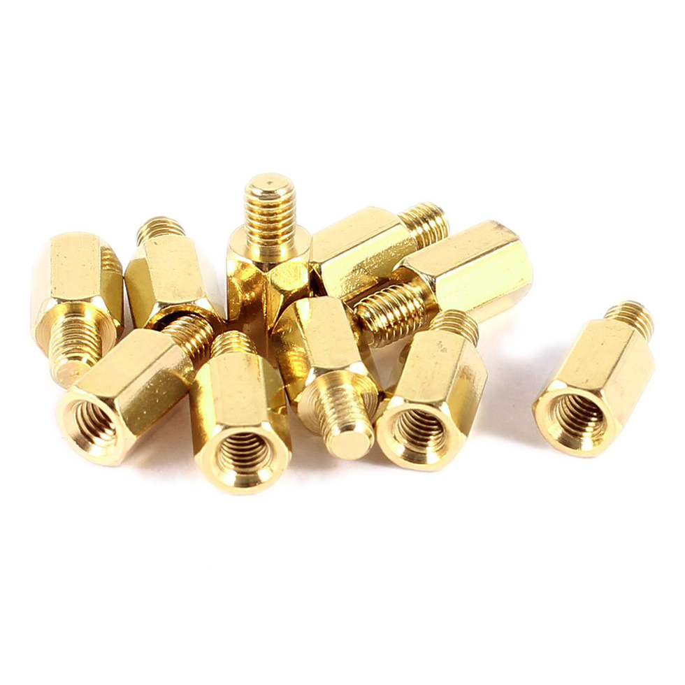 10Pcs Hexagonal Spacer M3 PC PCB Motherboard Brass Standoff Hexagonal Spacer M3 7+4mm