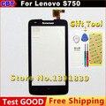 100% Новый Оригинальный Замена Сенсорного Экрана Для Lenovo S750 Внешний экран Черный + инструмент + Бесплатная Доставка