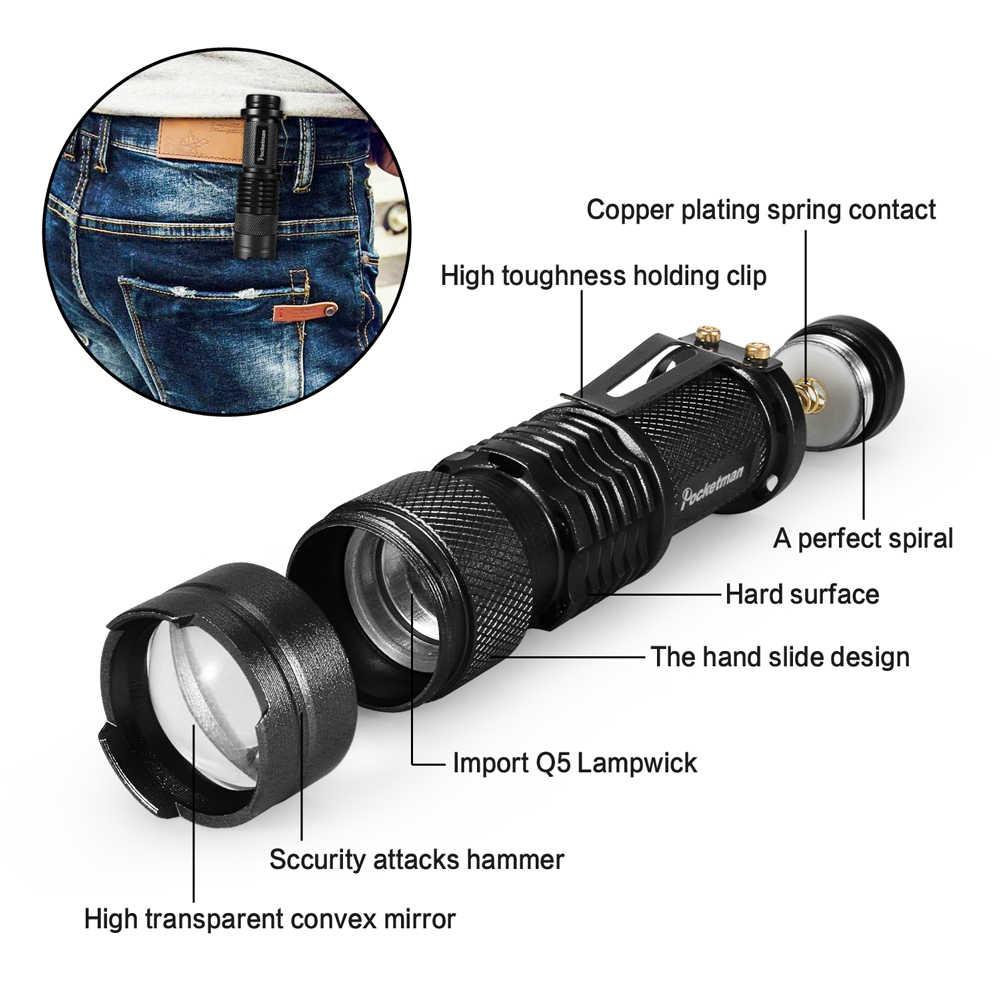 Набор по акции! Тактический светодиодный фонарь, XML-T6, тактический фонарь + Q5, мини фонарь, масштабируемый, водонепроницаемый фонарик для велосипеда