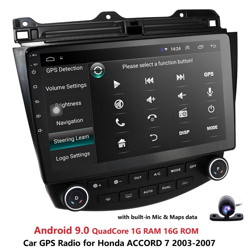Ossuret 10.1 7 Android 9.0 Car radio Navegação GPS para Honda ACCORD 2003-2007 Multimídia DVR SWC FM CAM -IN BT DTV USB DAB PC OBD