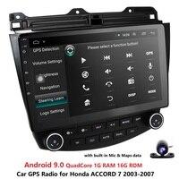 Ossuret 10,1 Android 9,0 автомобильное радио GPS навигация для Honda ACCORD 7 2003-2007 мультимедиа DVR SWC FM CAM-IN BT USB DAB DTV OBD PC