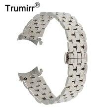 """18 מ""""מ 20 מ""""מ 22 מ""""מ 24 מ""""מ נירוסטה צפו בנד עבור Tissot T035 PRC200 T055 T097 פרפר רצועת השעון צמיד רצועת אבזם פרק כף היד"""
