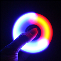 Luminous Hand Fidget Clear Flash Light EDC Finger Tri Spinner For Autism ADHD Relief Focus Anxiety