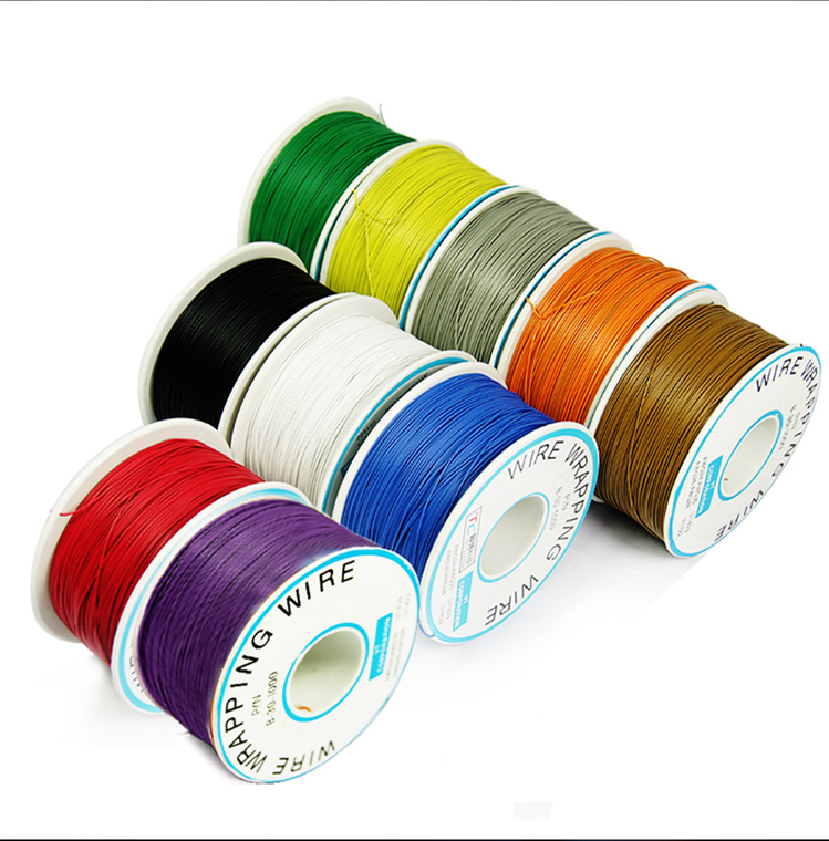 Wire wrapping OK line single core Maintenance Flying wire Connecting wire Electronic lead PCB jumper Model line for notebook 250m 30awg single core copper wire ok line circuit board flying line pcb jumper electronic wire welding cable