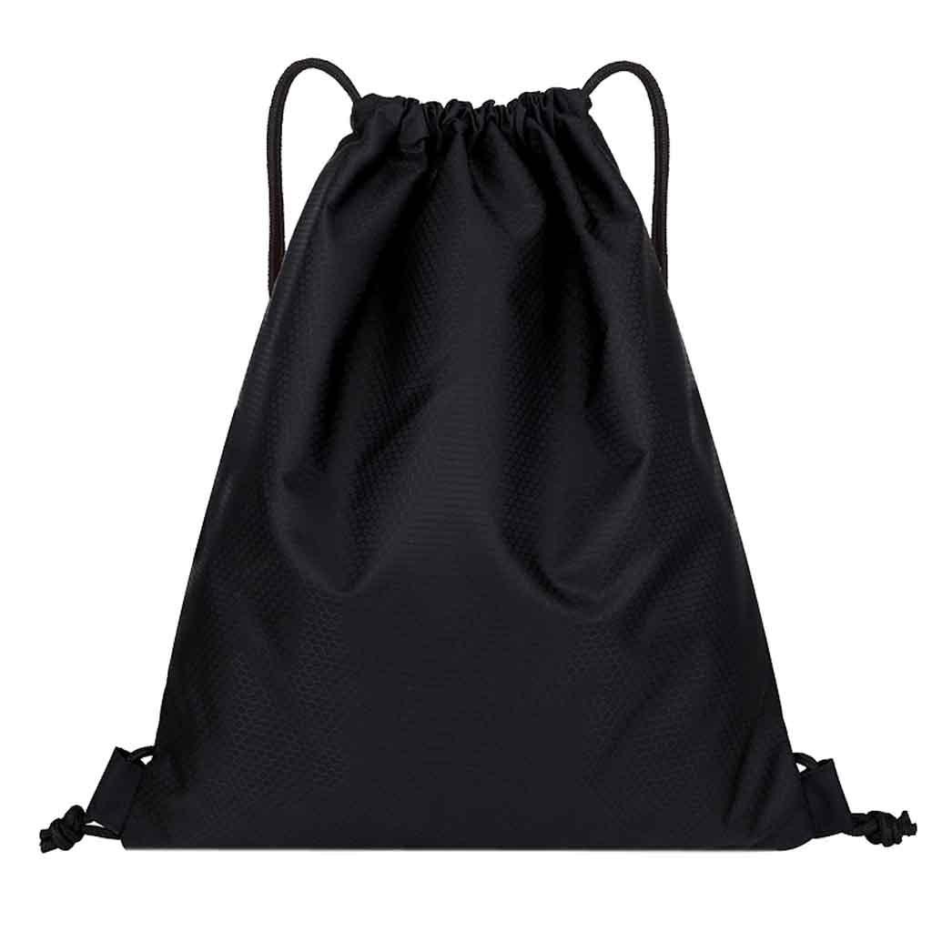 Portable Drawstring Bag Men Women String Sack Beach Backpack Male Folding Shopping Bag Belt Riding Backpack