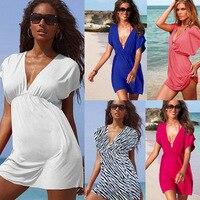 VILEAD Buz Pamuk Serin Plaj Tunik Elbise Mayo Örtbas mayo Cover Up Kadınlar Seksi Bikini Giymek Mayo Kapak Up