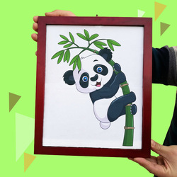 Panda Rahmen Magie Tricks Plüsch Panda Spielzeug Erscheinen Von Bord Magia Zauberer Bühne Partei Gimmick Requisiten Illusion Mentalismus
