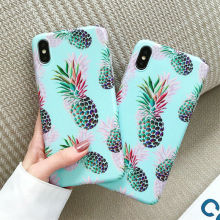 Pineapple Pattern Shockproof Cover Case For iPhone X 6 6s 8 7 Plus Blue Marble