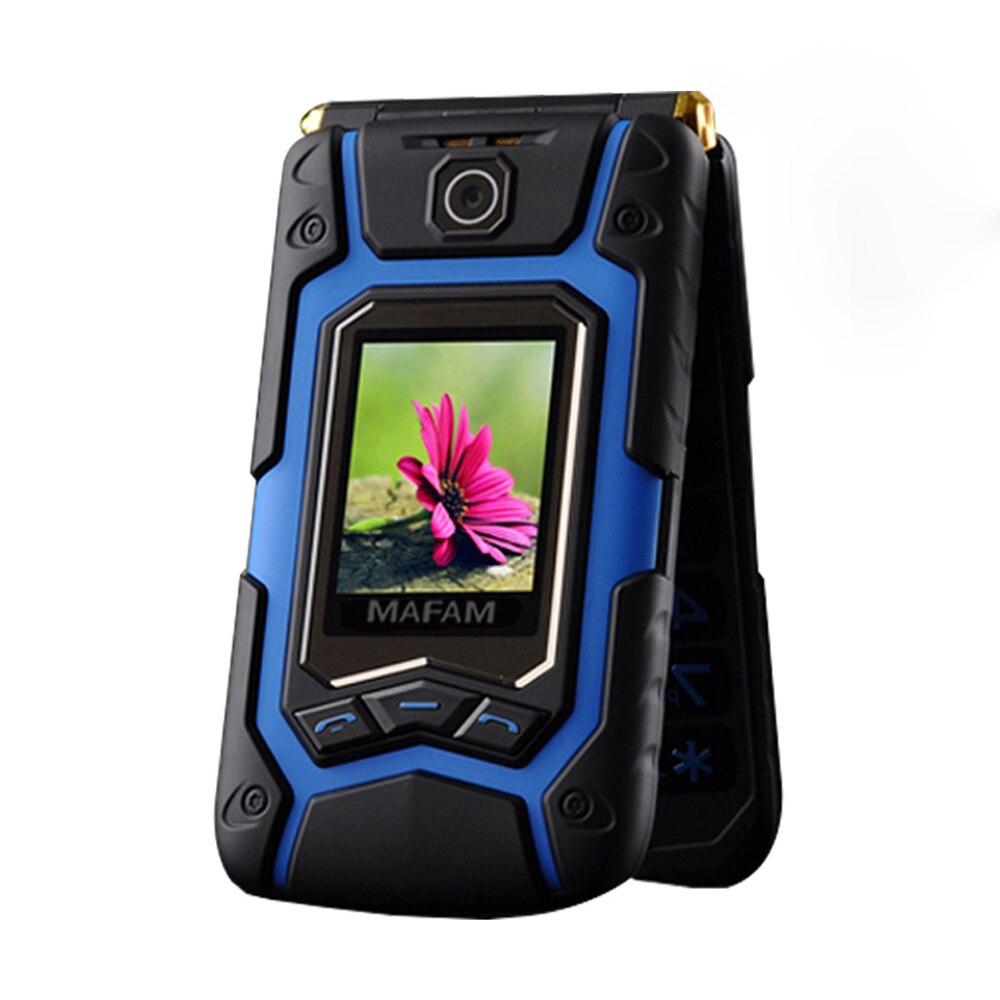 Flip земля X9 двойной большой Дисплей Rover Сенсорный экран Dual Sim быстрое быстрого набора Большой Русская раскладка Пластик мобильный телефон дл...