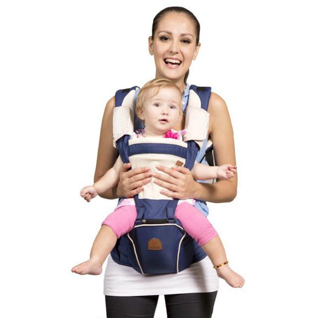 Seguro frente virada baby carrier infantil confortável sling backpack pouch envoltório portador de bebê multifuncional respirável cintura stool-48
