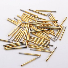 Test Pin P156-J (Smooth Head Type) Probe 34mm Test Pin Thimble Spring Pin 100 Pcs/Package Household Test Equipment Electrical p125 a2 cup type head test spring thimble 100 pcs pack integrated detection probe tool accessories