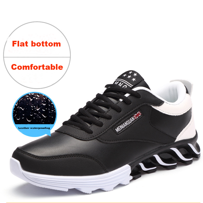 2018 men and women shock absorption wear sports shoes New mesh leather surface breathable rain